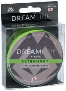 Plecionka MIKADO Dream Line Ultralight (FLUO GREEN) 0.035mm2.53kg150m